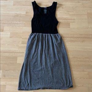 Bebe black grey dress m/l
